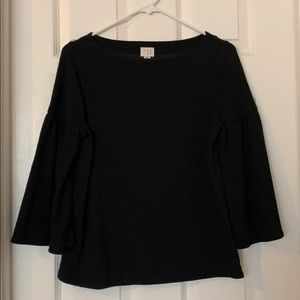 A new day black bell sleeve blouse